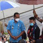 KUNJUNGAN KERJA MENTERI PERTANIAN REPUBLIK INDONESIA DILOKASI FOOD ESTATE KABUPATEN SUMBA TENGAH